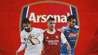 Arsenal - Manuel Locatelli, Granit Xhaka, Fabian Ruiz (Bola.com/Adreanus Titus)