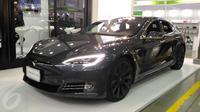 Mobil Otonomos Listrik Tesla Model S di Computex 2017. Liputan6.com/Mochamad Wahyu Hidayat