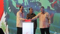 Presiden Terpilih Joko Widodo (Jokowi) menghadiri pembukaan Trade Expo Indonesia (TEI) ke-29 di JIExpo, Jakarta, Selasa (08/10/2014) (Liputan6.com/Herman Zakharia)