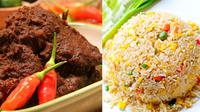 Dua ikon kuliner tanah air, Rendang dan Nasi Goreng, tampil sebagai makanan terenak di dunia nomer satu dan nomor dua, versi CNN.