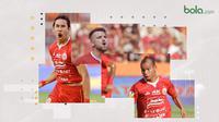 3 pemain kunci Persija yang bisa membahayakan Madura United. (Bola.com/Dody Iryawan)