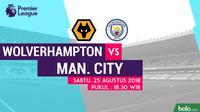 Premier League 2018-2019 Wolverhampton Vs Manchester City (Bola.com/Adreanus Titus)