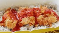 Dampak Corona Covid-19, Restoran Sajikan Menu Nasi Ayam Saos Tolak Angin. (dok.Instagram @nayam.id/https://www.instagram.com/p/B_eGUTVh-N-/Henry)