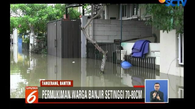 BPBD (Badan Penanggulangan Bencana Daerah) Periuk mengungkapkan, banjir akibat air kiriman dari hulu di Bogor, Jawa Barat.