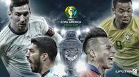 Banner Infografis Laga Copa America 2019 Bergulir. (Liputan6.com/Abdillah)