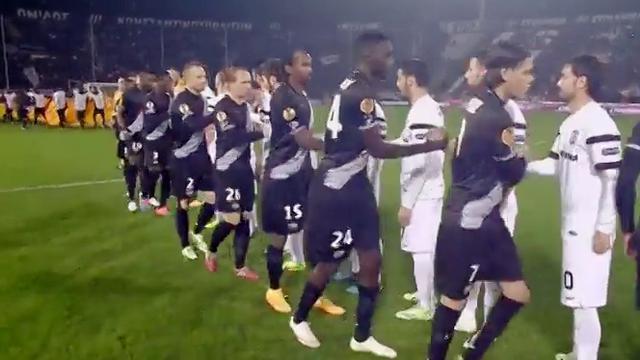 Hasil Liga Europa antara PAOK melawan Guingamp.