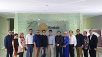 Komisi Penyiaran Indonesia (KPI) bersilaturahmi dengan Grup Emtek di SCTV Tower, Senayan, Jakarta. (Liputan6.com/Nanda Perdana Putra)