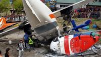 Kecelakaan pesawat di Nepal. (AFP)