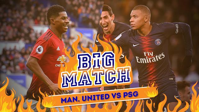 16 Besar Liga Champions 2018-2019 leg 1, Manchester United vs PSG. (Bola.com/Dody Iryawan)