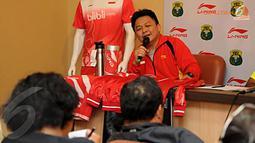 Menurut Manajer Tim Lius Pongoh untuk nomor tunggal putra dan ganda putra memiliki peluang untuk menjadi juara (Liputan6.com/Helmi Fithriansyah).