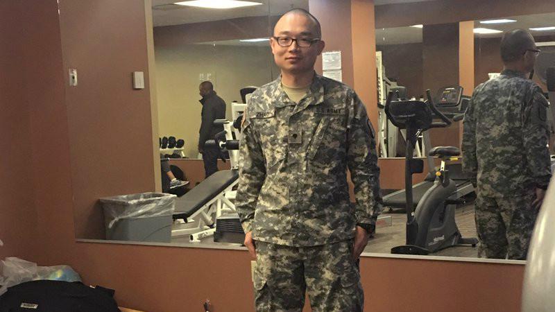 Panshu Zhao, tentara AS yang diberhentikan (AP PHOTO)