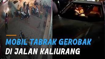 VIDEO: Mobil Tabrak Gerobak di Jalan Kaliurang, Balita Tersiram Kuah Panas