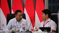 Presiden NOC Indonesia, Raja Sapta Oktohari (kanan), bersama Sekjen NOC Indonesia, Ferry J Kono. (Dok. NOC Indonesia)