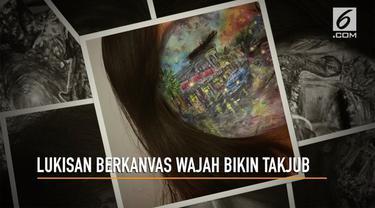 Mariah Malik miliki kemampuan yang tak biasa. Ia mampu melukis di atas wajahnya.