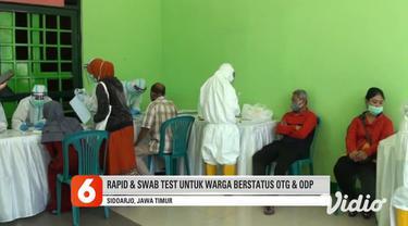 Sebanyak 150 orang warga Sidoarjo menjalani rapid test dan swab di GOR Sidoarjo. Rapid test dan uji swab tersebut merupakan program dari Dinas Kesehatan Provinsi Jawa Timur. Rapid dan swab test tersebut dikhususkan untuk pasien dengan status ODP atau...