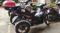 Motor modifikasi untuk disabilitas milik Chandra, Jakarta Selatan, (16/1/2020)