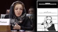 Pembuat manga beberkan penderitaan yang dialami seorang perempuan Muslim Uighur. (dok. screenshot YouTube/Hong Kong Society)