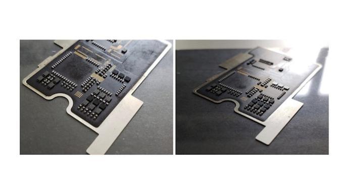 Komponen palsu pada Mi 8 Explorer Edition (Foto: Ubergizmo)