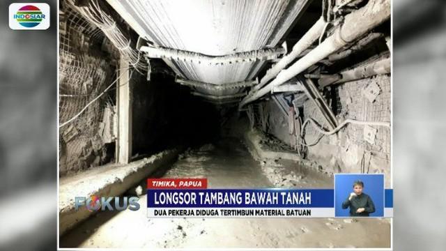 Longsor bebatuan terjadi di kawasan pertambangan PT Freeport Indonesia. Dua orang terluka, sementara dua lainnya masih dalam proses pencarian petugas.