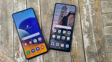 Samsung Galaxy A72 dan Redmi Note 10 Pro