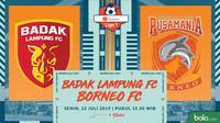 Liga 1 2019: Badak Lampung FC vs Borneo FC. (Bola.com/Dody Iryawan)