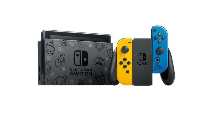Tampilan Nintendo Switch edisi khusus Fortnite. (Dok. Nintendo)
