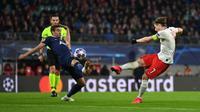 Kapten tim Leipzig, Marcel Sabitzer jadi bintang kemenangan tim saat mengalahkan Tottenham Hotspur. (Twitter/Leipzig)
