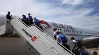 Pemain Timnas Argentina terbang ke Rusia menggunakan jet pribadi Rolling Stones. (Instagram)