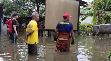 Puluhan rumah di Bojonggede, Kabupaten Bogor, Jawa Barat, terendam banjir