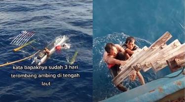 Viral Penyelamatan Dua Nelayan yang Terombang-ambing di Laut Selama 3 Hari