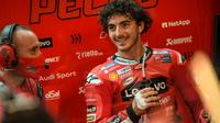 Pembalap Ducati, Pecco Bagnaia di kualifikasi MotoGP Qatar. (Twiitter/Ducati)