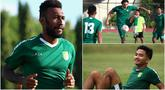 Para pemain baru Persebaya Surabaya tampak antusias saat mengikuti pemusatan latihan jelang bergulirnya Liga 1 Indonesia 2020. Mulai dari pemain asing Zoubairou Garba hingga Patrich Wanggai tampak fokus berlatih bersama Green Force. (Bola.com/Aditya Wany)