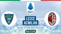 Serie A - Lecce Vs AC Milan (Bola.com/Adreanus Titus)
