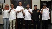 Partai Garuda Dukung Paslon Edy Rahmayadi-Musa Rajekshah di Pilkada Sumut. (Liputan6.com/Reza Efendi)