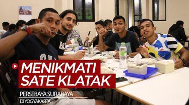 Berita video momen kebersamaan skuat Persebaya Surabaya saat menikmati Sate Klatak di Yogyakarta.