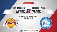 Jadwal NBA, LA Lakers Vs Philadelphia 76ers. (Bola.com/Dody Iryawan)