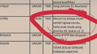 Jawaban Kocak Panitia CPNS Umumkan Peserta yang Enggak Lolos, Pakai Pantun (sumber: muratarakab.go.id)