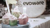 Gelas Rumput Laut. (dok. @evowareworld/https://www.instagram.com/p/BiRwOCTDgZS/Indah Permata Niska)