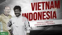 Sepak Bola Putra SEA Games 2019: Vietnam vs  Indonesia. (Bola.com/Dody Iryawan)