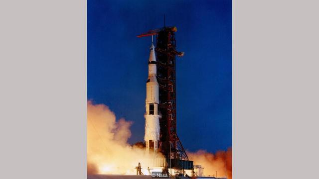 Peluncuran roket pada 16 Juli 1969 (NASA)
