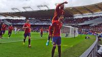 Sergio Ramos dan Gerard Pique akur saat bela Timnas Spanyol (Sportskeeda)