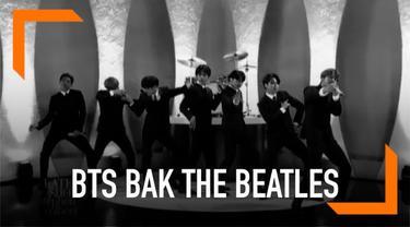 BTS tak hanya didandani dengan setelah jas ala The Beatles. Rekaman penampilan BTS juga dibuat dalam nuansa hitam putih.