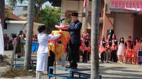 Etnis Tionghoa di Kota Medan yang tergabung dalam Paguyuban Sosial Marga Tionghoa Indonesia (PSMTI) Sumatera Utara (Sumut) menularkan virus cinta Tanah Air