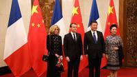Presiden Prancis Kunjungi China, Ada Agenda Apa? (LUDOVIC MARIN / POOL / AFP)