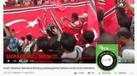 [Cek Fakta] Gambar Tangkapan Layar Video Upacara  Pengibaran Alam Pedang di Aceh