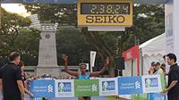 Pelari Kenya, Pamela Rotich Kipsogei, menjuarai kategori elit putri Standard Chartered Singapore Marathon 2017. (myactivesg.com)