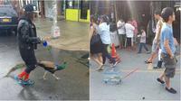 Nyelenehnya orang saat jalan-jalan bersama hewan peliharaannya. (Sumber: 8bitnerds.com/Instagram/receh.id)