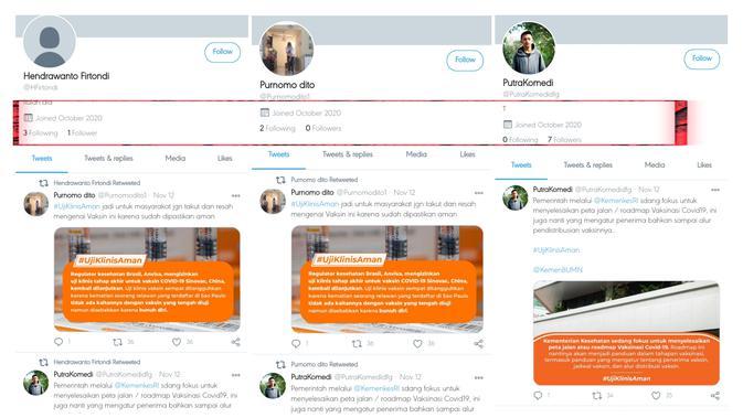 Kampanye Vaksin Melibatkan Akun Bot di Twitter