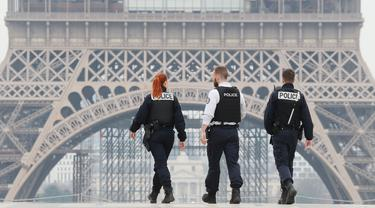 Polisi Prancis Razia Warga Berkeliaran Saat Lockdown