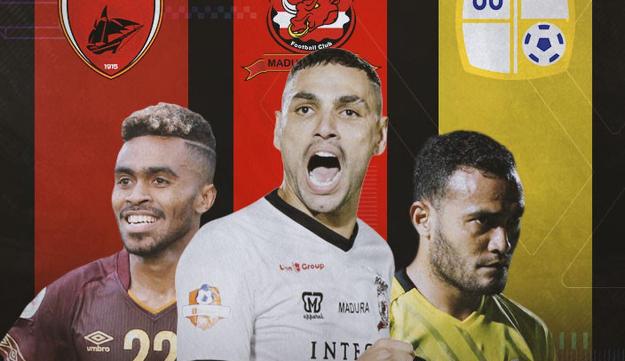 Piala Menpora - Yakob Sayuri, Jaimerson, Rizky Pora (Bola.com/Adreanus Titus)